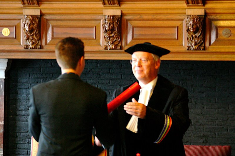 Receiving the degree certificate