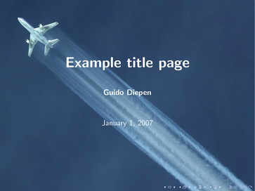 Screenshot showing example title page of diepen style
